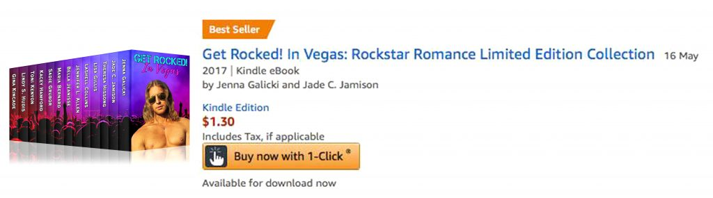 Amazon Bestseller Book Cover Get Rocked in Vegas Chloe Belle Arts