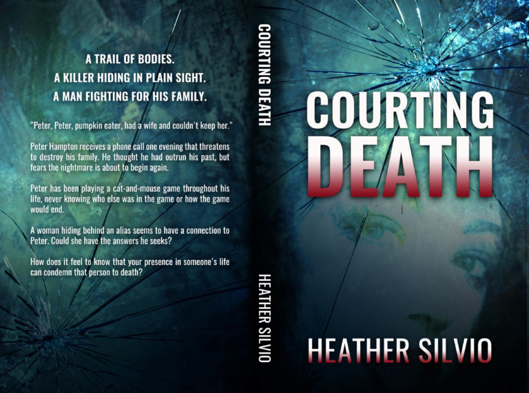 Courting Death Suspense Thriller Paperback Book Cover
