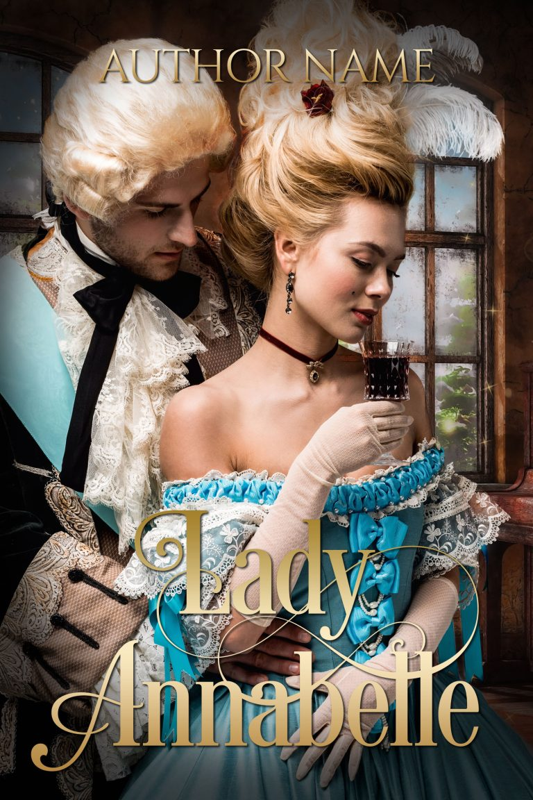Historical Romance Novel Book Cover Premade Lady Annabelle
