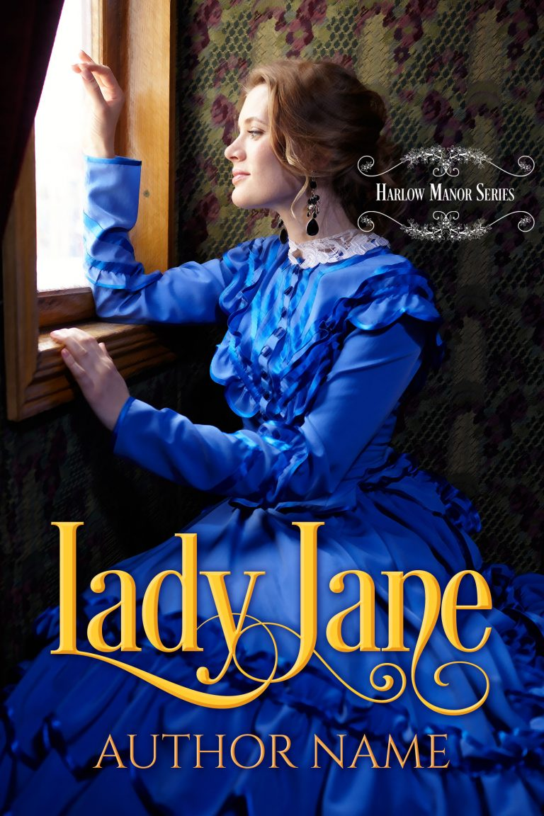 Historical Romance Novel Book Cover Premade Lady Jane