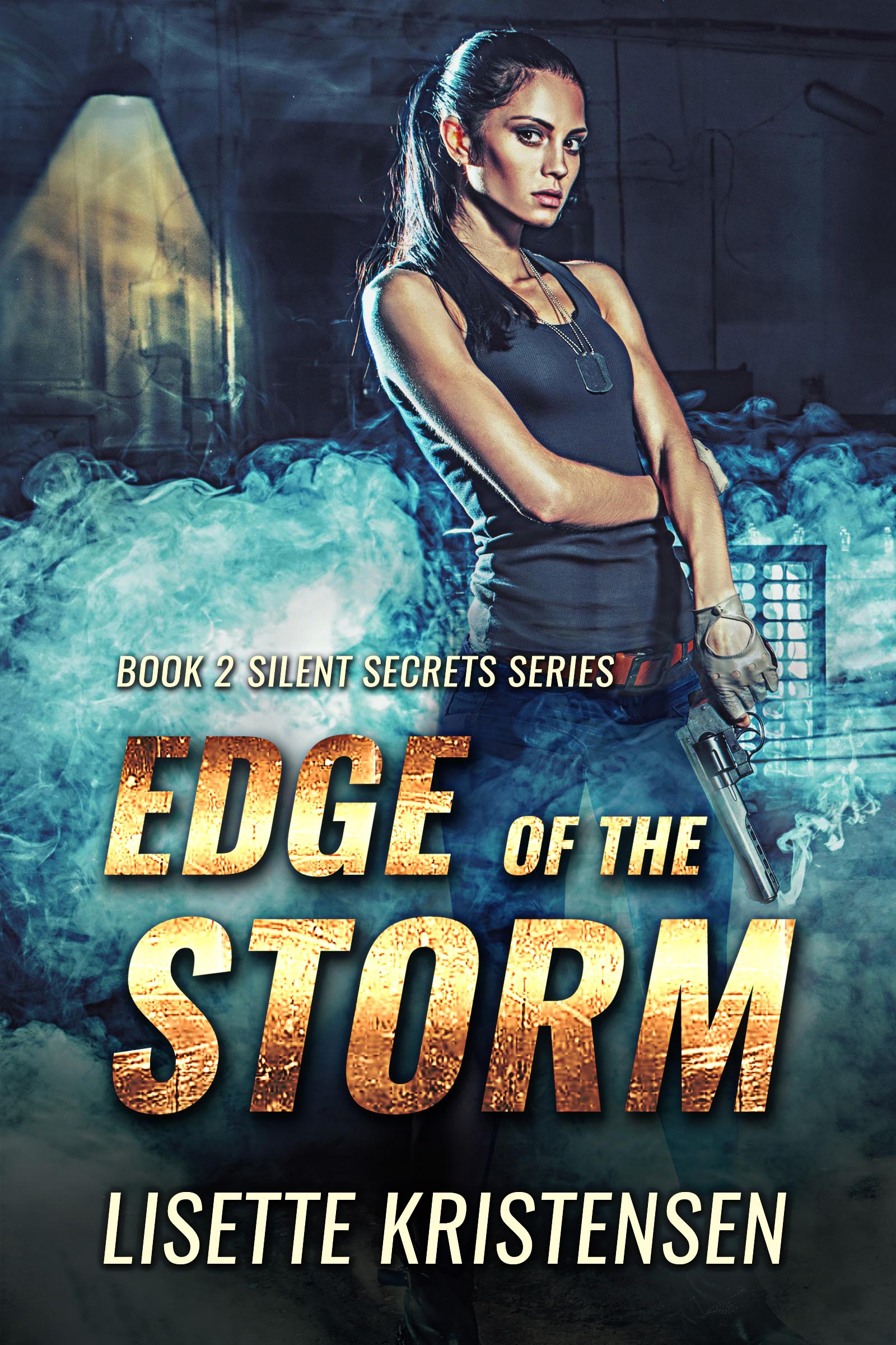 Military Thriller Book Cover by Chloe Belle Arts for Edge of the Storm by Lisette Kristensen