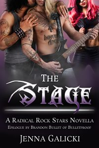 Book Cover by Chloe Belle Arts for The Stage by Jenna Galicki